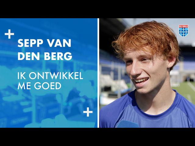 Sepp van den Berg: 'Ik ontwikkel me goed.'