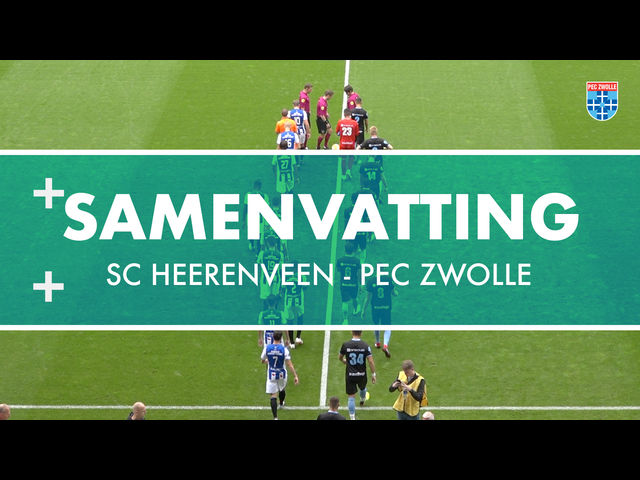 Samenvatting sc Heerenveen - PEC Zwolle