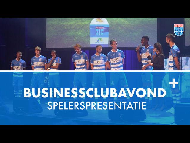 Spelers worden gepresenteerd op businessclubavond