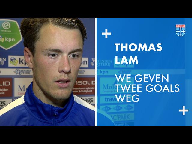Thomas Lam: 'We geven twee goals weg.'