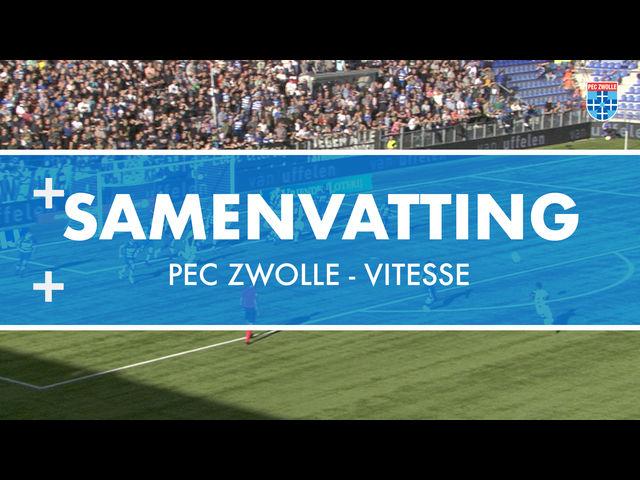 Vitesse gaat met zege aan de haal in Zwolle