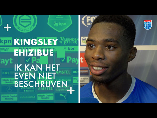 Kingsley Ehizibue: 'Ik kan het even niet beschrijven'
