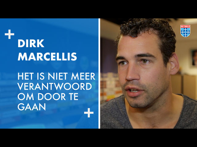 Dirk Marcellis: 'Het is niet meer verantwoord om door te gaan.'