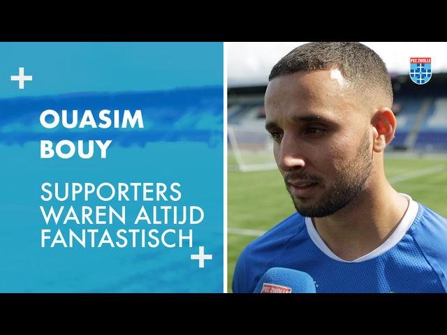 Ouasim Bouy: 'Supporters waren altijd fantastisch.'