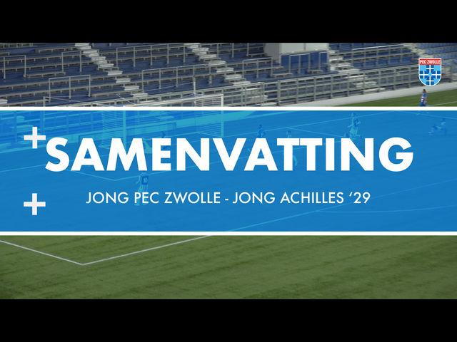 Samenvatting Jong PEC Zwolle - Jong Achilles '29