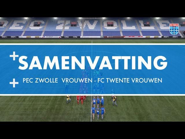 Samenvatting PEC Zwolle Vrouwen - FC Twente Vrouwen