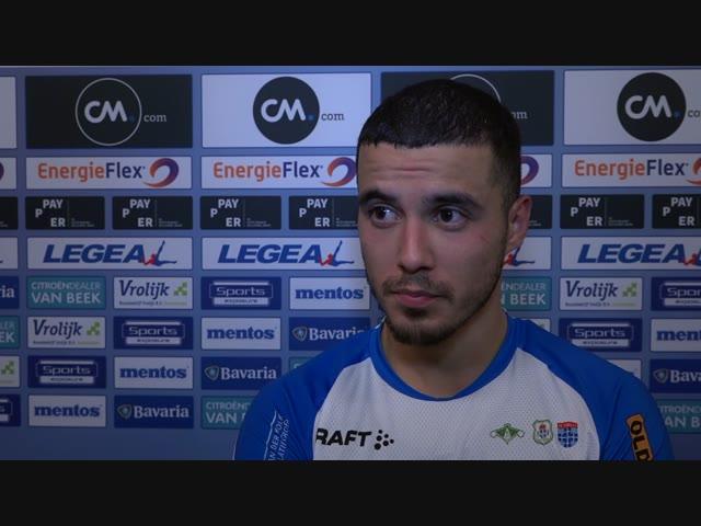 Mustafa Saymak: 'Heerlijk, de eerste uitoverwinning van dit seizoen.'