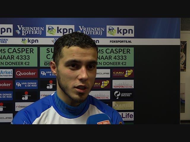 Mustafa Saymak: 'Ik ben heel tevreden dat we na een achterstand weer hebben gewonnen.'