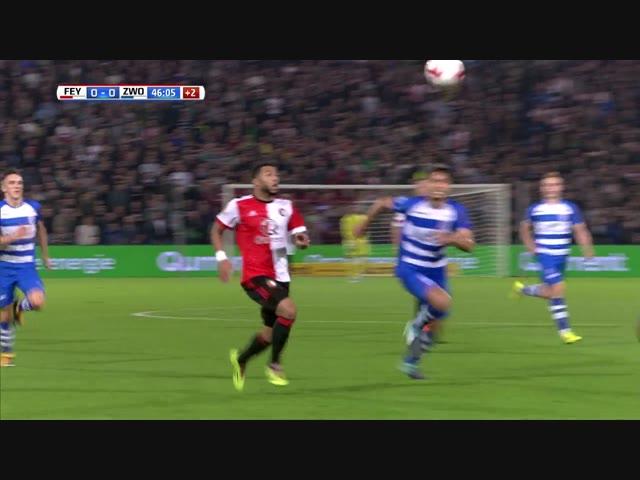 Samenvatting Feyenoord - PEC Zwolle: 0-0