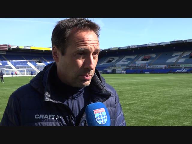 John van 't Schip: 'Ik verwacht een hele moeilijke wedstrijd.'