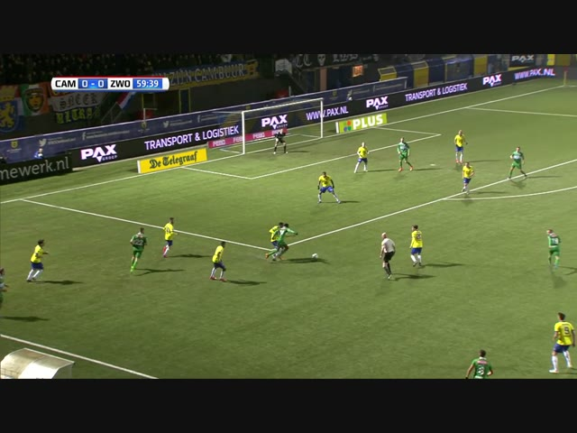 Samenvatting SC Cambuur - PEC Zwolle